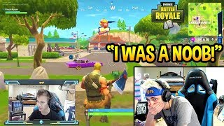 NINJA REACTS TO HIS *FIRST* EVER GAME OF FORTNITE! NOOB? Fortnite SAVAGE & FUNNY Moments | Kholo.pk