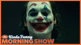 Joaquin Phoenix Joker Makeup Reacts - The Kinda Funny Morning Show 09.21.18