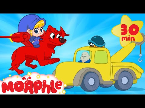 My Pet Superhero Dog Morphle! Towtruck and superhero puppy videos for kids