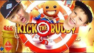 Непобедимый чувачек в Kick the buddy