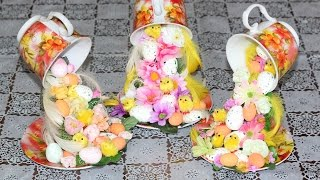 Парящая чашка(сувенир на Пасху).