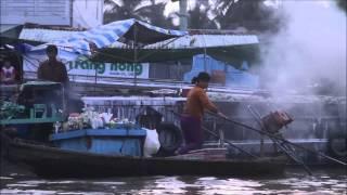 Det Flydende Marked I Mekong Deltaet