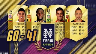 FIFA 18 PLAYER RATINGS FROM 60 to 41 - LUKAKU LOOKS BEAST! - FIFA 18 Ultimate Team #FIFA18Ratings