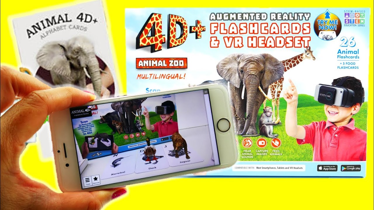 STEM Toys - Utopia 360° 4D+ Augmented and Virtual Reality Animal Zoo