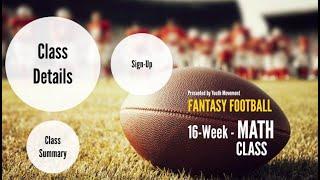 Math Class:  Fantasy Football