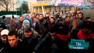 preview picture of video 'Scontri tra operai e scioperanti alla Rhiag di Siziano. Il video della rissa'