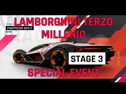 Estágio 3 Lamborghini Guia do Evento Especial Terzo Millenio