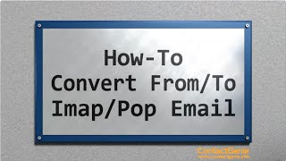 How to change an Outlook POP/Imap account