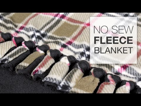 DIY No Sew Fleece Blanket