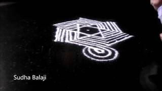 Easy Muggulu Design With 7 4 Interlaced Dots Easy Dots Kolam For