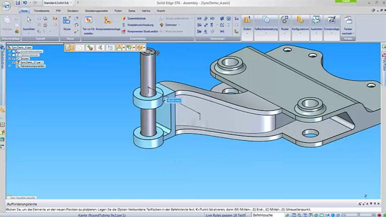 Vorschaubild: Solid Edge: Schnellere Maschinenkonstruktion mit Synchronous Technology
