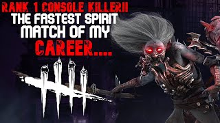 RANK 1 SPIRIT!! THIS MATCH WAS INSANELY FAST FOR NO REASON....LMAO (Dead by daylight)