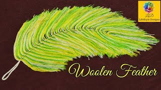 DIY Woolen Feather For Decoration | Feathers Made Out Of Yarn | LifeStyle Designs Craft