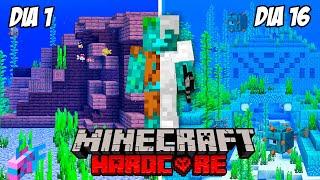 Sobreviví 100 Días Como un Ahogado en Minecraft Hardcore y esto es lo que pasó…