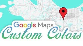 Google Maps Custom Colors in HTML And WordPress