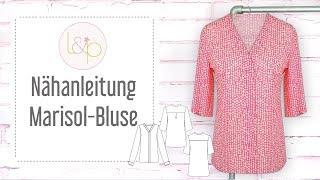 Nähanleitung lillesol Marisol-Bluse  - einen Bluse ohne Knopfleiste nähen
