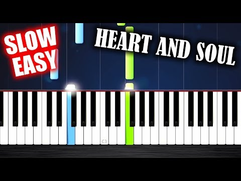 Heart And Soul - SLOW EASY Piano Tutorial by PlutaX