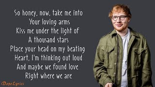 Ed Sheeran   Thinking Out Loud (Lyrics)