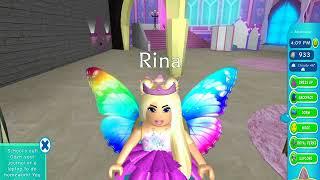 Roblox. Невероятотные приключения Рины в Школе фей ,принцесс и русалок))  (Royale High)
