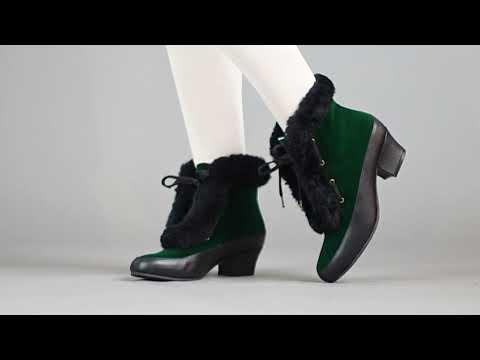 PRE-ORDER Alpen Women's Retro Winter Booties (Emerald/Black)