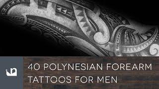 40 Polynesian Forearm Tattoos For Men