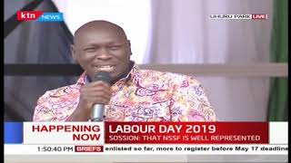 Hon Joshua Kutuny's speech during 2019 Labour Day Celebration