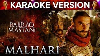 Malhari Song Karaoke Version | Bajirao Mastani | Ranveer