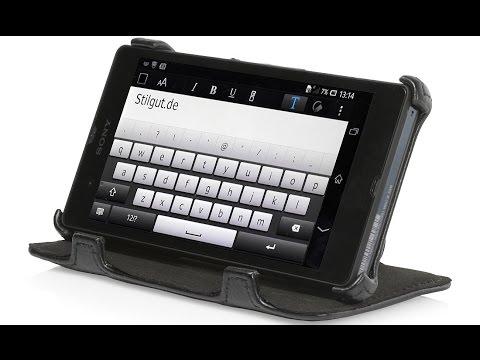 Handyhülle für Sony Xperia Z mit Standfunktion von StilGut
