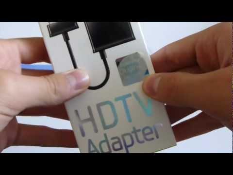 Samsung Galaxy Tab 10.1 HDMI adaptor unboxing