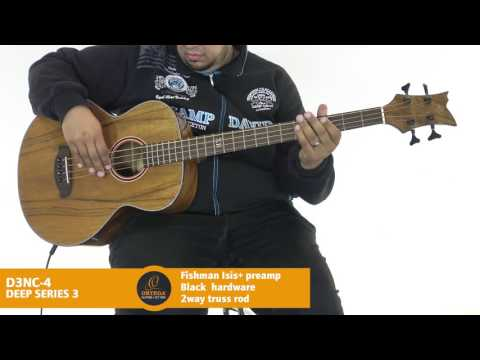 Ortega Guitars | D3NC-4 - Deep Series 3 (Acoustic Bass Guitar)