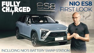 NIO ES8 & 3-minute Battery Swap Station | FULLY CHARGED for Clean Energy & Electric Vehicles