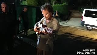 """Damien Rice - """"The Box"""" (Cap Roig Barcelona 29-7-18) After concert, with guitarlele"""