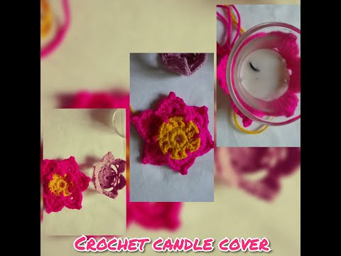 Crochet candle 🕯️ cover
