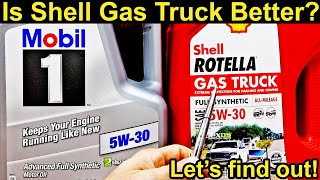 Is Shell Rotella Gas Truck better than Mobil 1 Motor Oil? Let's find out!