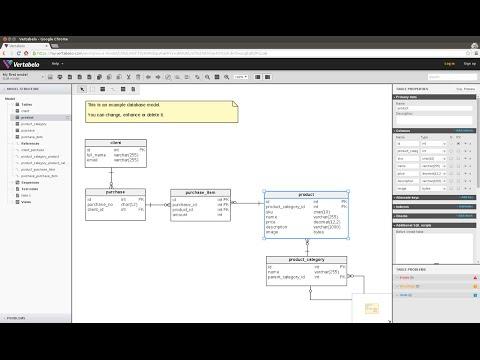 Vertabelo – Design Your Database Online [2013]