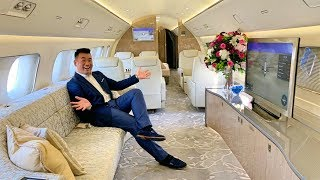 Fly like Jackie Chan on Embraer Lineage 1000E Private Jet!
