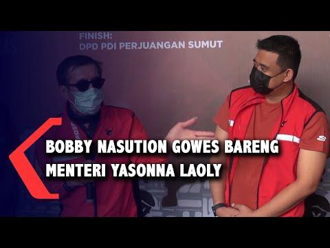 Bobby Nasution Gowes Bareng Menteri Yasonna Laoly