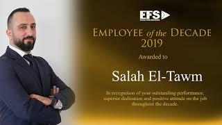 EFS Employee of the Decade 2019 – Mr. Salah El-Tawm, Senior Director, Operations Abu Dhabi