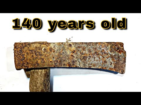140-year old Japanese Axe Restoration (no talking, no music - only ambient)