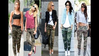 Camo  Pants Outfit For Women/How To Wear Camo Pants