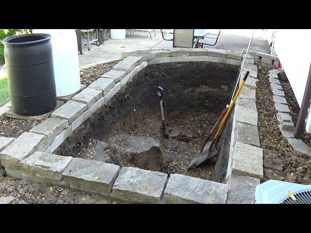 Building a New Garden Koi Pond (Part 1 of 3) - Backyard Fish Pond Documentary