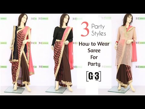 , title : 'How to Wear a Saree for Party in 3 Different Styles | G3fashion'
