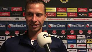 Reactie Robert Mühren na afloop van SC Cambuur - Go Ahead Eagles (5-0)