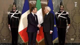Mattarella ha ricevuto il Presidente della Repubblica Francese Macron