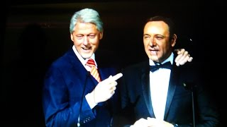 Kevin Spacey's Bill Clinton Quote - Hillary's Hurdling Now