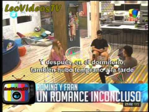 Romina y Francisco, mas que romance mucha calentura GH 2015 #GH2015 #GranHermano