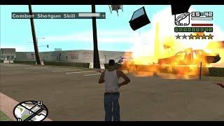 GTA San Andreas - Combat Shotgun - reaching Hitman Level at the very beginning of the game