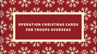 Operation Christmas Cards for Troops Overseas!