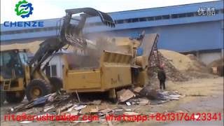 preview picture of video 'Chenze ZP1400-700 Wood Waste Grinding Shredder|Wood Grinder In The Biomass Power Plant'