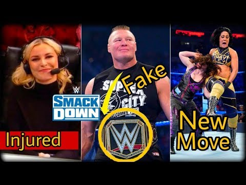 Big botches of SmackDown live | Fake WWE title of Lesnar